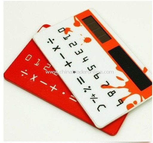 2011 new Ultra-thin Card calculator Solar calculator Put the purse calculator