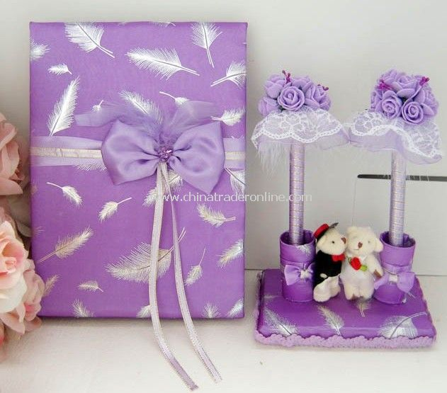 Accessory/Wholesale Retailing wedding pen holder/Handicraft wedding guest book.