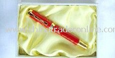 China red porcelain metal fountain pen