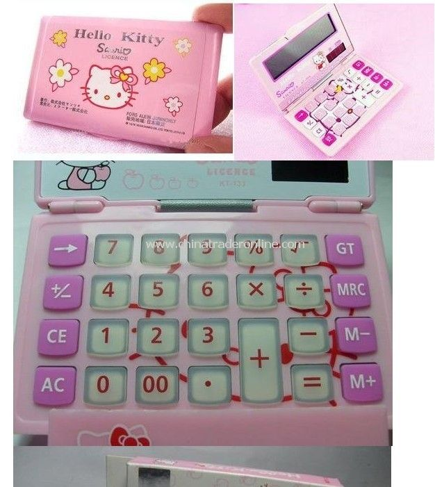 Hello kitty mini solar energy calculator