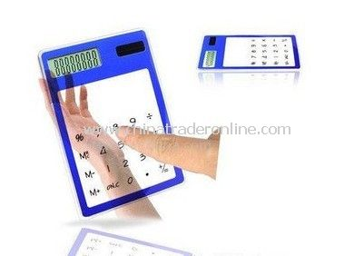 ultrathin / solar / transparent calculator
