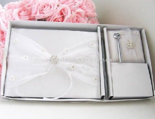 Wedding gift,Senior Bridal Western-style,One SET:(Flower Basket+sign Book+ring pillow+sign pen+pen stand) RP42 from China