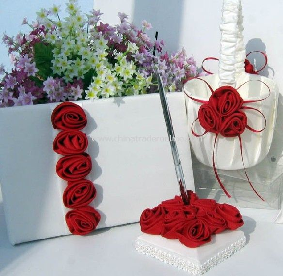 Wedding Guest Book/ Wholesale Retail wedding guest book & pen/wedding Supplywedding accessory/wedding pen holder