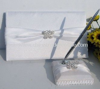 white butterfly rhainstone guest book and pen/ wedding favor/wedding decoration/wedding set