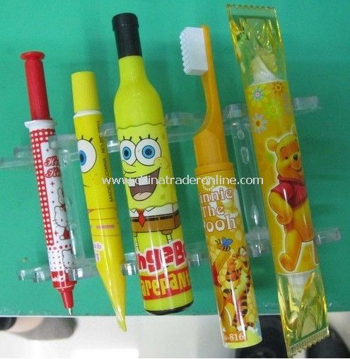 wholesale new novelty cartoon ball pen ,100PCS/LOT,Stationery .LOVELY