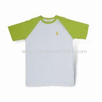 100% Cotton Promotional T-shirt, Customized Designs are Welcome