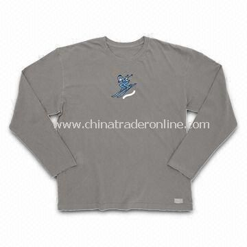 Mens T-shirt with Long Sleeves, Suitable for Promotional Purposes