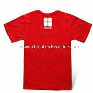 Polyester Promotional T-shirts, Available in Various Sizes and Colors, OEM Orders are Welcome