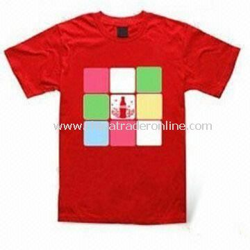 Polyester Promotional T-shirts, Various Sizes and Colors are Available, OEM Orders are Welcome