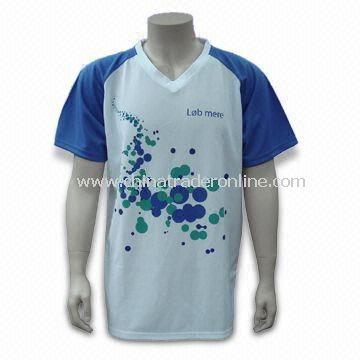 Promotional Dry-fit T-shirt with Moisture Wicking, Made of 100% Polyester Material from China
