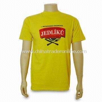 Promotional Mens T-shirt, Customized Logos are Welcome from China