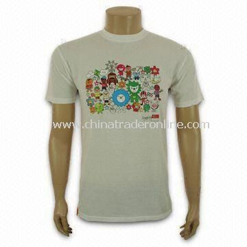 Promotional T-shirt, Made of Cotton Jersey Fabric, Customized Logos Welcomed