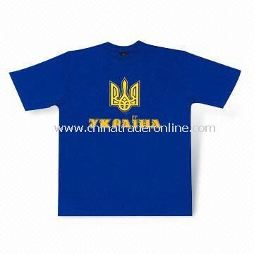 Promotional T-shirt, Screen Printing Logo on Front or Back, Made of 100% Cotton