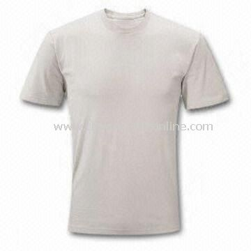 Promotional T-shirt Made of 50% Cotton and 50% Viscose Knit Jersey, Sits on Hip