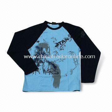 Promotional T-shirt with Long, Short and Raglan Sleeve, Made of 100% Cotton