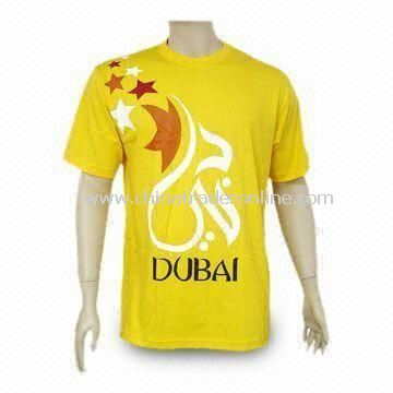 T-shirt, Made of 100% Cotton Jersey, Customized Logos Welcomed