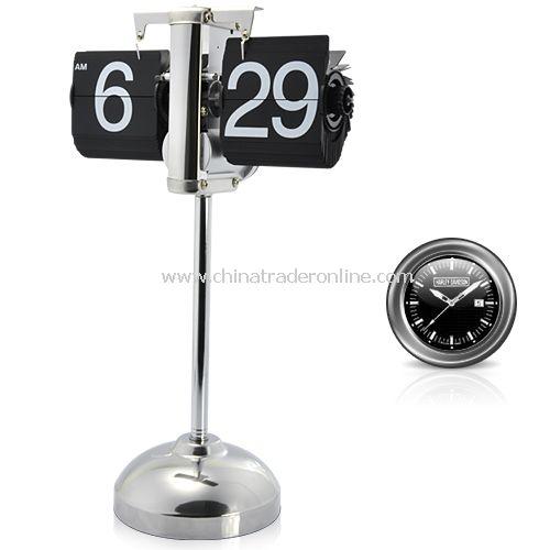 Auto Flip Down Clock with Steampunk Design