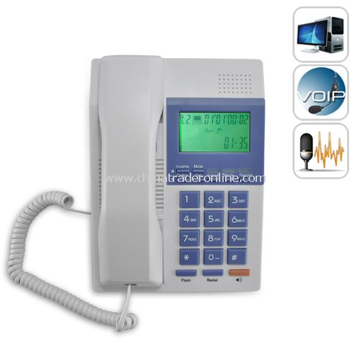 Business Phone for Computers (VoIP, Skype, Landline) - USB Phone