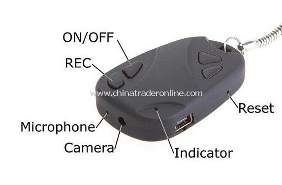 Car Keys DVR Support TF Card