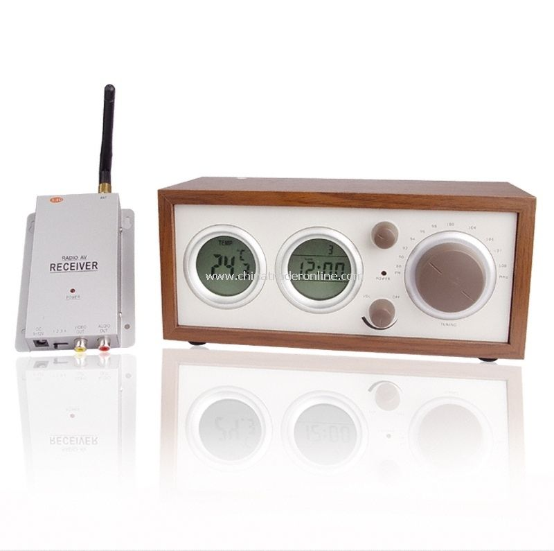 Clock Radio With Hidden Pinhole Color Camera Set - radio & clock Built-in