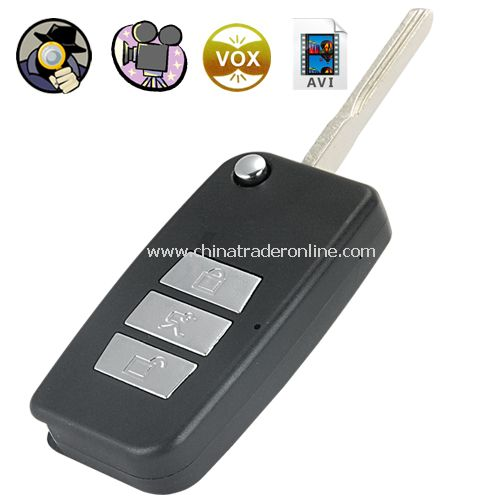 Digital Video Recorder Spy Camera (Remote Entry Flip Key Style) - remote entry flip key shaped