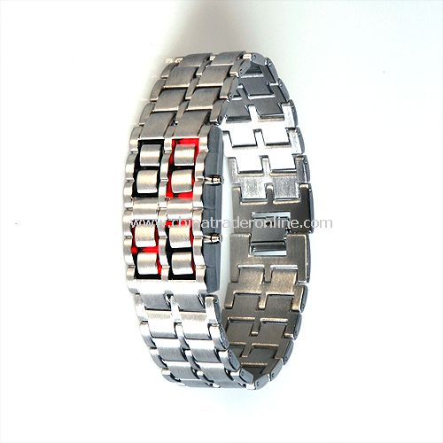 Fantastic & Innovative Watch - Iron Samurai Japanese Inspired Red LED Watch
