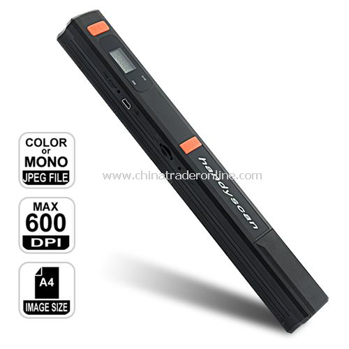 Portable Cordless Handheld Scanner (HandyScan) w/ 600/300 DPI Resolution from China