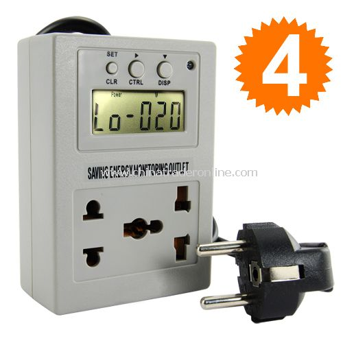 Saving Energy Usage Monitor and Power Outlet Controller - Easy to Use!