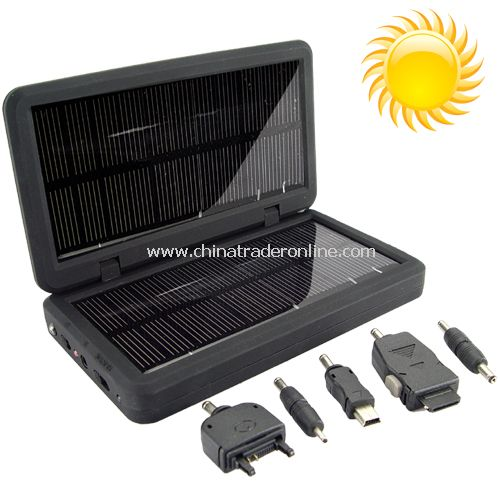 Solar Battery Charger for iPods, Phones, Cameras and USB Devices =Energy Saved