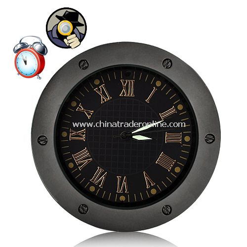 Surveillance Spy Camera Clock with Motion Detection (High-definition + 4GB)