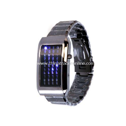 The Warp Core - Japanese Style Blue LED Watch 3012 AD- Sub-zero Blue LEDs