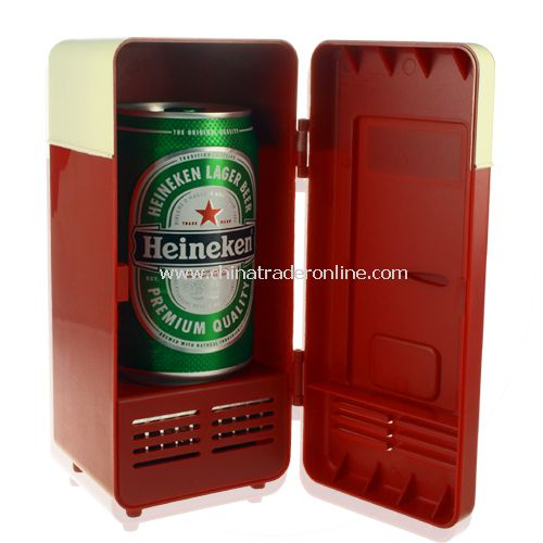 USB Powered Cooler + Heater - Retro Refrigerator Design - USB Fridge