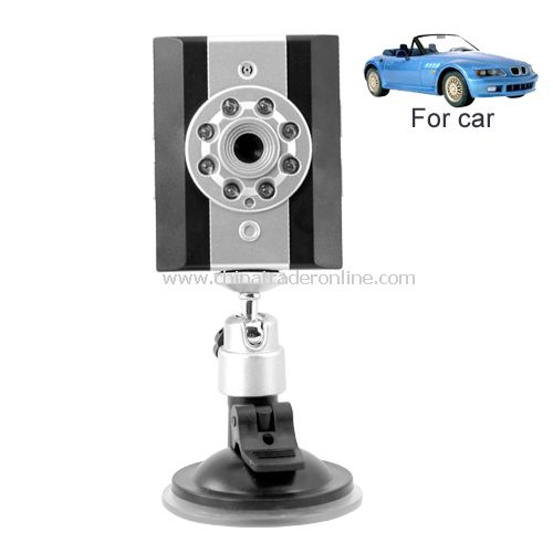 Vehicle Video Recorder with Infra Red + In-Car Mounting Stand - Simple one-click recording