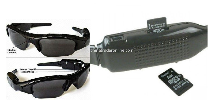 wholesale anti spy equipment sunglass camera