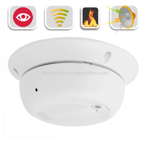 Working Smoke Detector with Hidden Camera - Waterproof Night Vision Security Camera