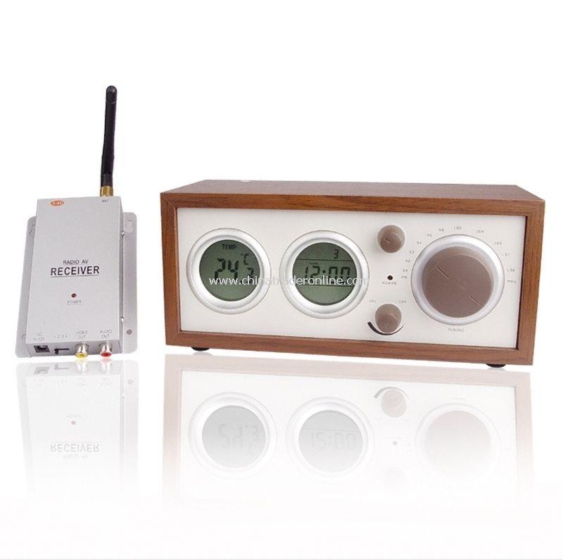 Clock Radio With Hidden Pinhole Color Camera Set - radio & clock Built-in