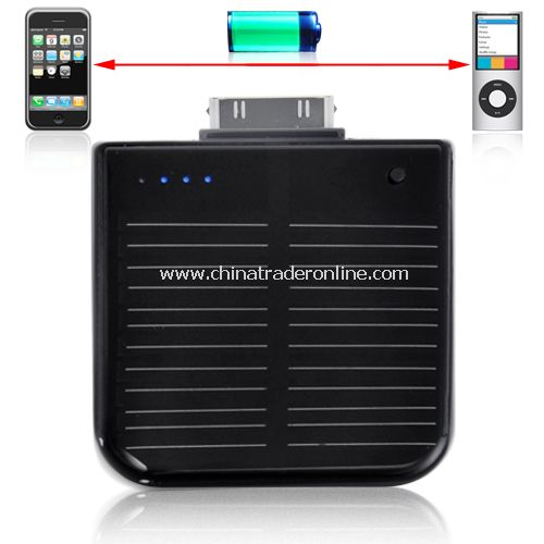 iPhone/iPod Portable Solar Battery Charger - Portable & Rechargeable Solar chager