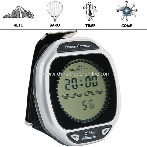 K2 - Wristop Digital Compass, Altimeter, Barometer, Thermometer IN 1 from China