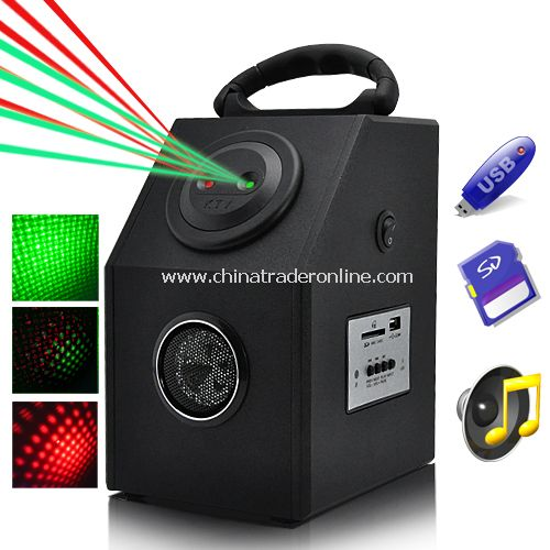 Laser Effects Projector with MP3 Player - Red and Green Laser