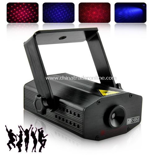 Laser Show Projector with Sound Activation (100mW Red/Purple) - Small & Pocketable
