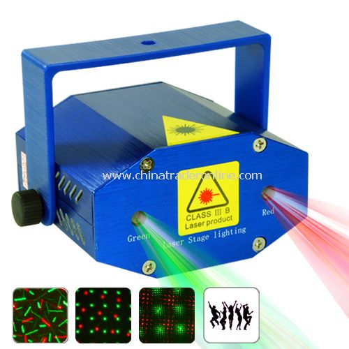 Mini Projector - Sound Activation - Dual Green & Red Lasers from China