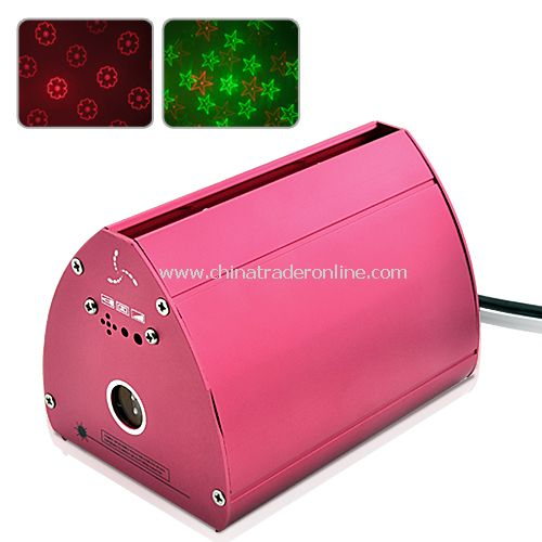 Portable Laser Projector (Red and Green) - Sound Activate from China