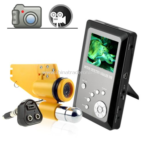Professional Underwater CCD Video Camera with Video Recorder - Underwater IR video camera with DVR