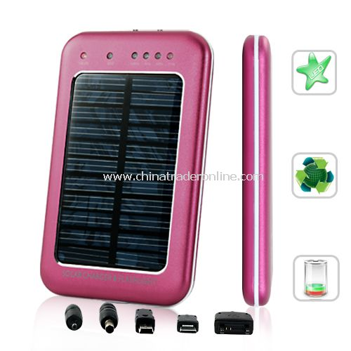 Solar Battery Charger For Mobile Phones and Mini USB Devices - 2600mAh capacity battery
