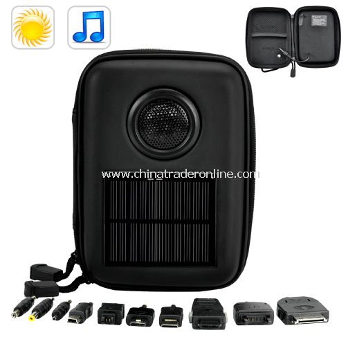 Solar Battery Charger with Speaker 1000mAh