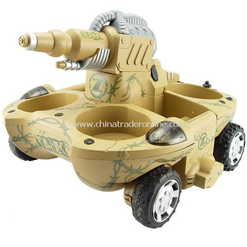 Transforming Amphibious Tank with Water Cannon and 4WD (220V) - Remote controlled amphibious tank