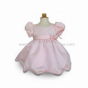 100% Cotton Baby Dress, Customized Materials and Styles are Accepted