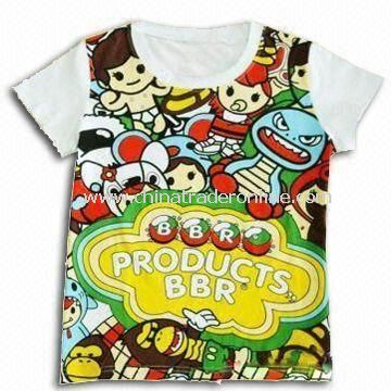 100% Cotton Baby T-shirt, Available in Various Colors and Sizes from China