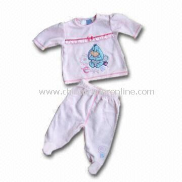 Babies Clothing Set with Applique Graphic, Customized Sizes and Designs Welcomed