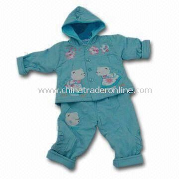 Babies Clothing Set with Embroidery Graphics, Available in Customized Colors
